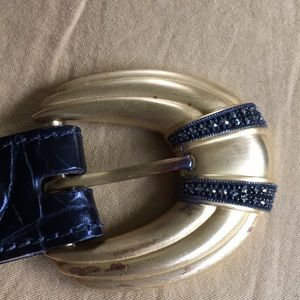 Judith Jack Accessories - Judith Jack Leather & Gold Tone/Marcasite Buckle